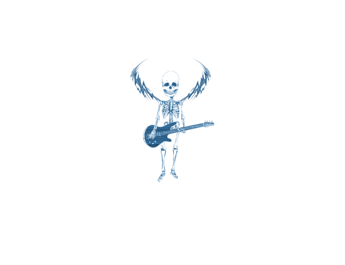 Winged Skeleton Musician