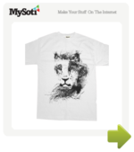 ink lion tee by fabiofranca. Available from MySoti.com.