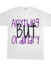 Anything But Ordinary-White/Purple