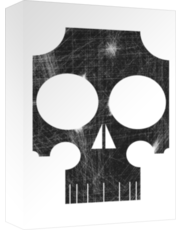 distressed stylized skull poster