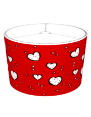 Dotty Hearts red Lampshade