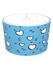 Dotty Hearts turquoise Lampshade
