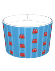 Red Owl aqua Stripes Lampshade