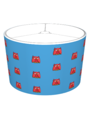 Red Owl aqua Lampshade