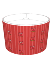Red Owl red Stripes Lampshade