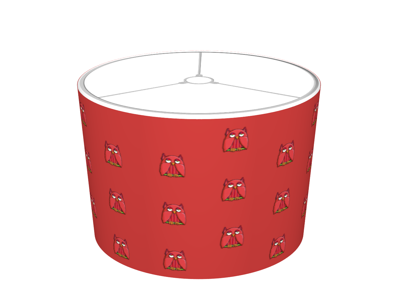 Red Owl red Lampshade