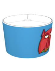Red Owl big aqua Lampshade