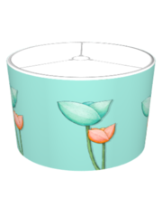 Simple Flowers teal orange Lampshade