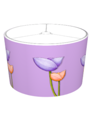 Simple Flowers purple orange Lampshade