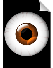 Large Brown Blood Shot Eye Poster Print