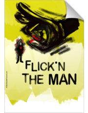 Finger Flick the Man - Hand Graphic Poster - Canvas Art Print