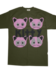 Hooker Kitten Men's Tee (Kitty) in green hookerkitten.com