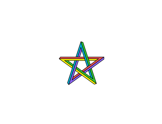 Optical illusion star