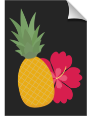 Pineapple with flower