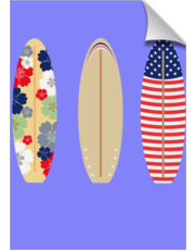 Three surfboards