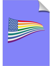 United States Rainbow flag