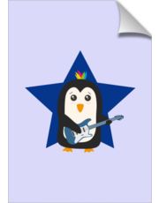 Rock Guitar Penguin