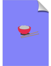 Asian rice with chopsticks