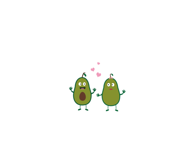 Avocados in love