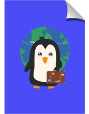 Penguin world traveler