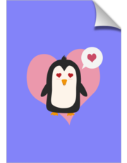 Penguin with a heart