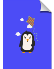 Penguin with Kite