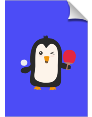 Penguin table tennis