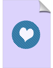 Striped heart blue