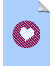 Striped heart Purple