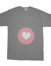 Striped heart Pink