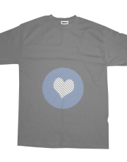 Striped heart light blue