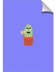 Angry cactus with free hugs