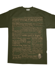 Shakespeare Insults T-shirt - Revised Edition (by incognita)