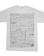 Shakespeare Insults T-shirt - Revised Edition B&W (by incognita)