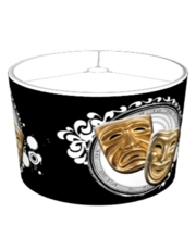 Gold Drama Masks Lampshade