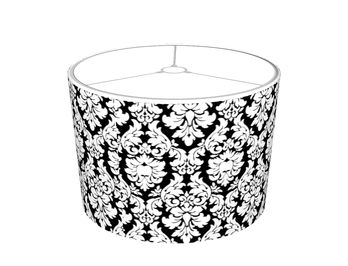 Black & White Damask Lampshade