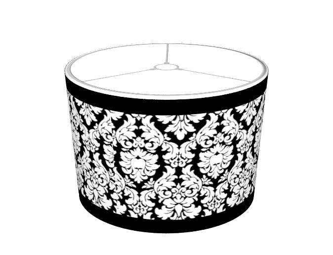 Mysoti incognita black white damask with trim lampshade black white damask with trim lampshade aloadofball