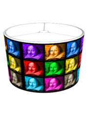 Pop Art Shakespeare (Black) Lampshade