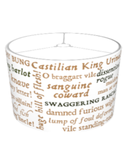 Shakespeare's Insults Collection (White) Lampshade