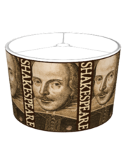 Shakespeare Droeshout Engraving Lampshade