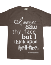 Shakespeare's Henry IV, Part I Hell Fire Quote (White)