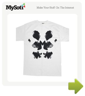 Rorschach mask tee tee by Inku. Available from MySoti.com.