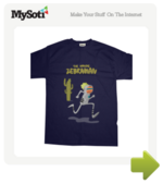 Zebraman tee by jaumao. Available from MySoti.com.