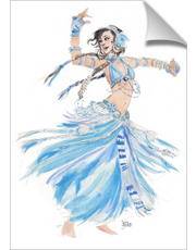 Blue Belly Dancer