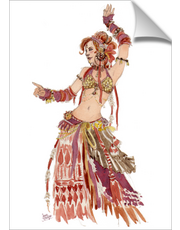 Red Tribal Belly Dancer