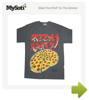 Pizza Party! tee by jonsperry. Available from MySoti.com.
