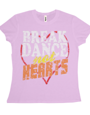 Break Dance Not Hearts Vintage T-Shirt