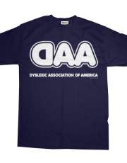 Dyslexia Association of America Logo Navy T-Shirt