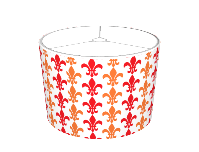 Red and Orange Fleur de Lis Pattern