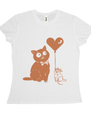 Valentine Cats with Heart Balloon